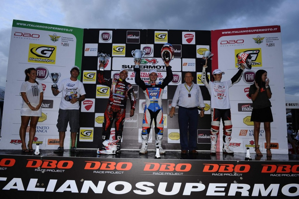 Podium 2011 Italian Supermoto Championship Final in Casteletto di Branduzzo