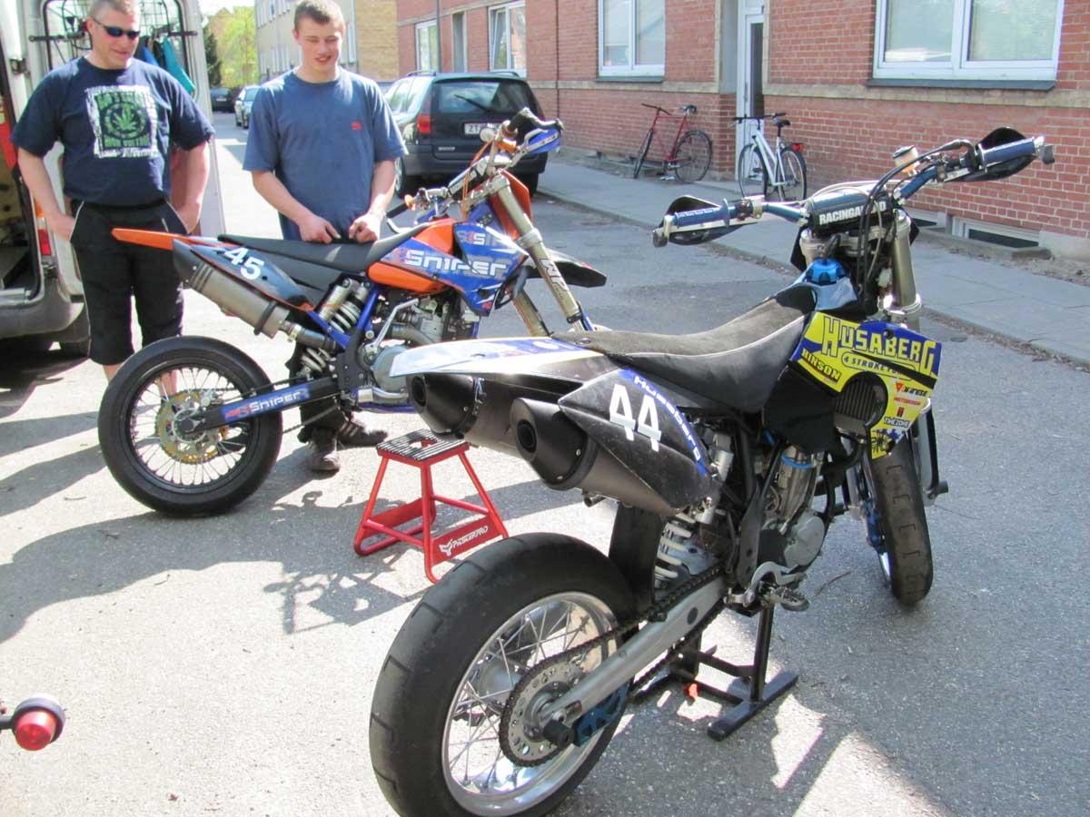 KTM og Husaberg Supermotard Racere Stjålet 22 september 2011