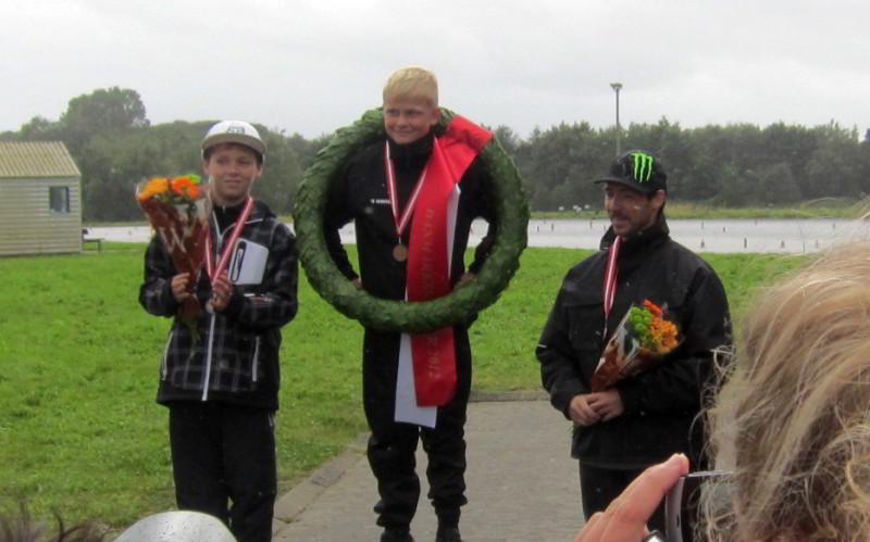 2012 Randers SM Finale DM Minimotard. Anders Salling, Simon Winther, Rene Salling