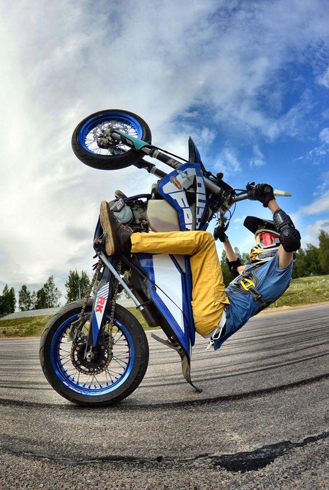 Husaberg Supermotard Stunt Rider Finland