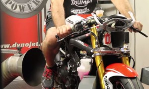 Triumph 675R Dyno - as shown on supermotard.dk