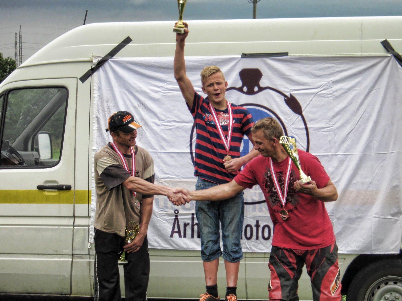 14årige Simon Winther Danmarksmester i Supermotard SM A 2014
