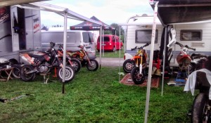 Camp Denmark Saturday 13/9 2014 German Supermoto Championship in Stendal.
