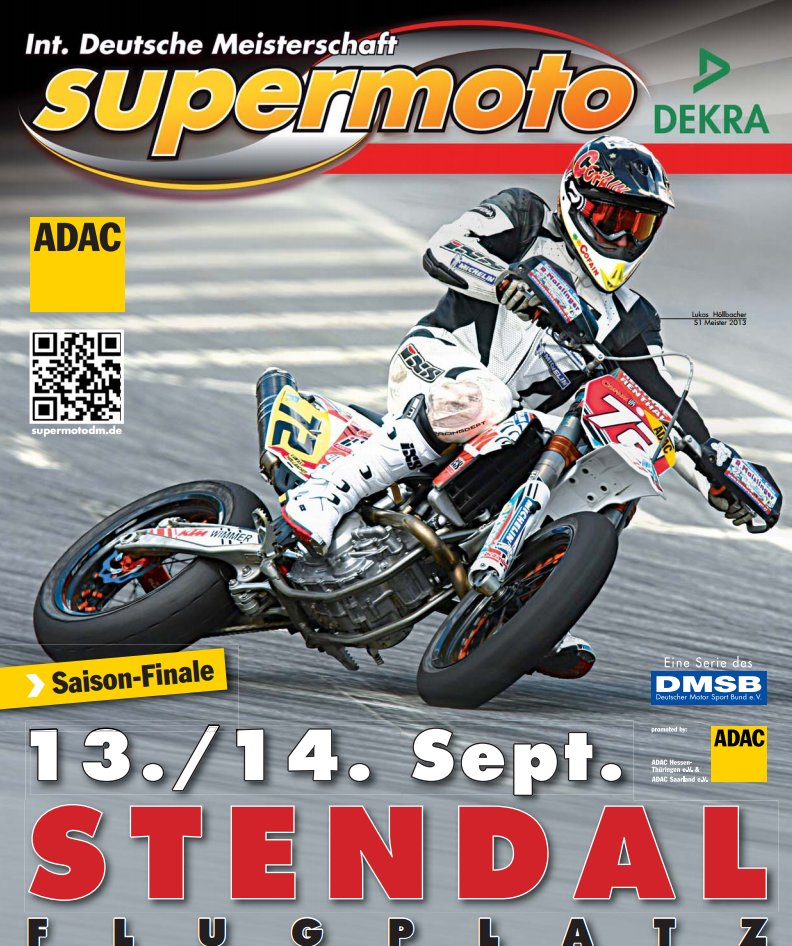 Supermotard Poster 2014 Stendal Tyskland