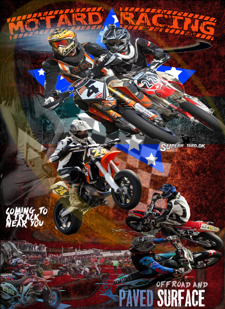 Supermoto Poster Flyer Plakat