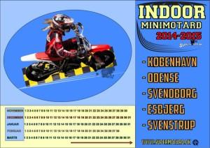 Minimotard Kalender 2014-2015 Indendørs i Danmark