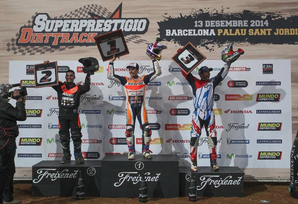 1.Marc Márquez 2.Jared Mees 3.Kenny Noyes Superprestigio Dec 2014