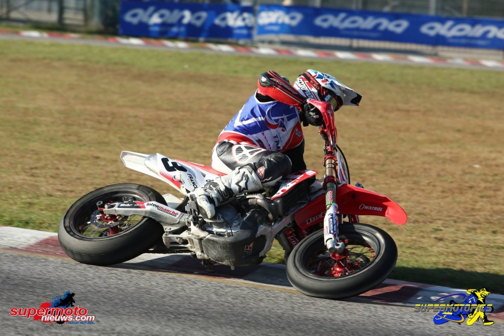 Nedlægningsvinkel Supermoto of Nations 2015